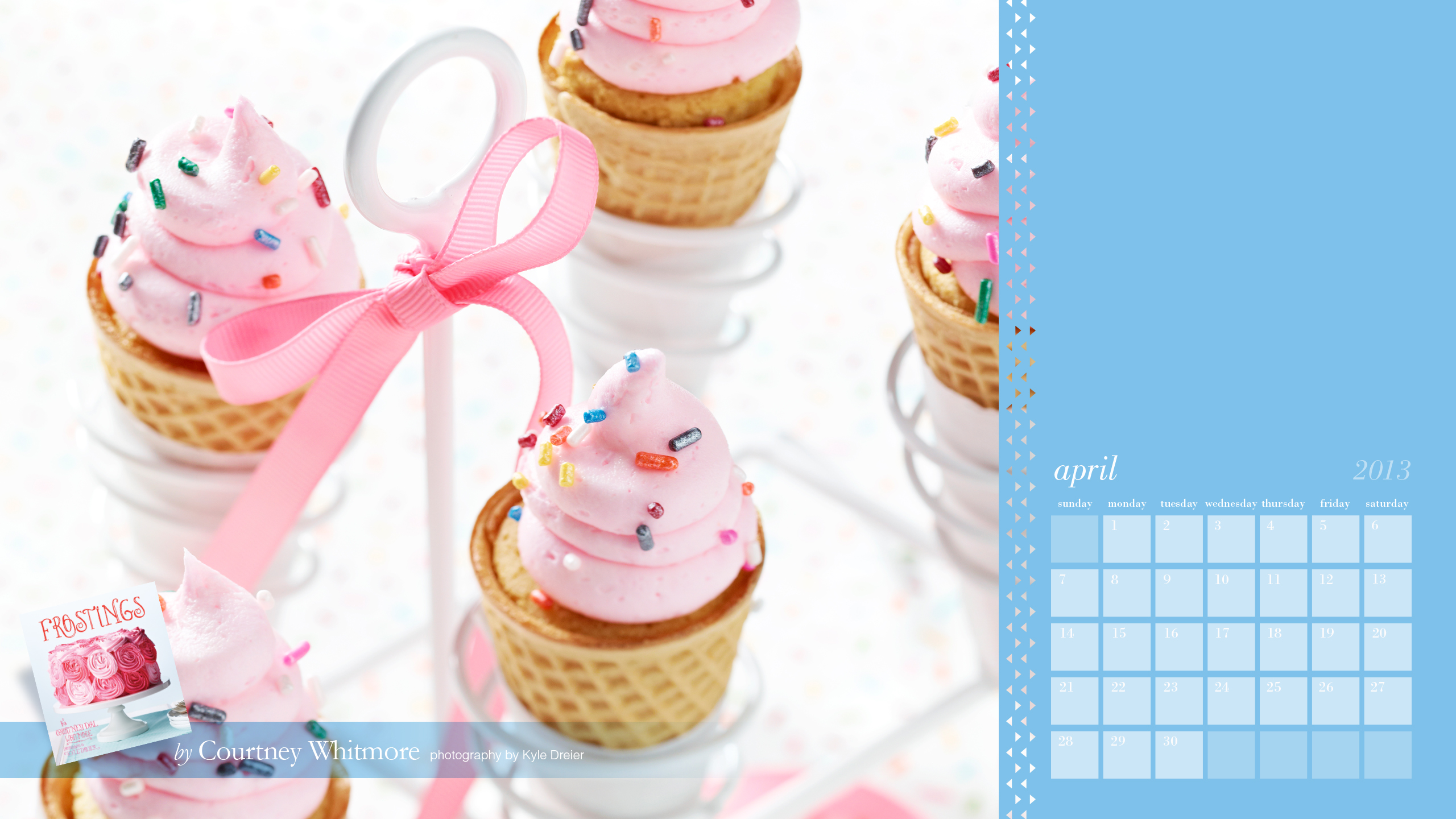 Free Desktop Calendar from Pizzazzerie's book Frostings!